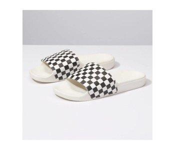 Vans - Sandale  femme slide -on (checkerboard)white/black