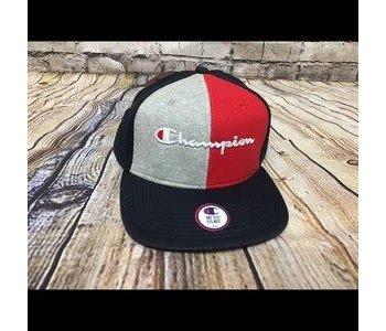 Champion - casquette reverse wave baseball colorblock navy/scarlet /grey