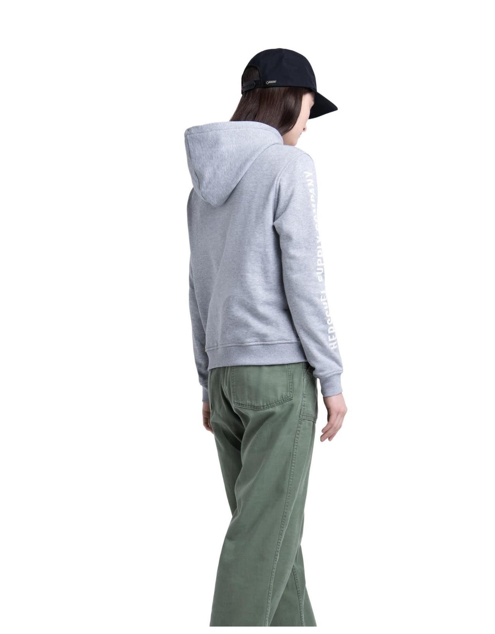 herschel Herschel - ouaté pullover sleeve print heather grey/white print