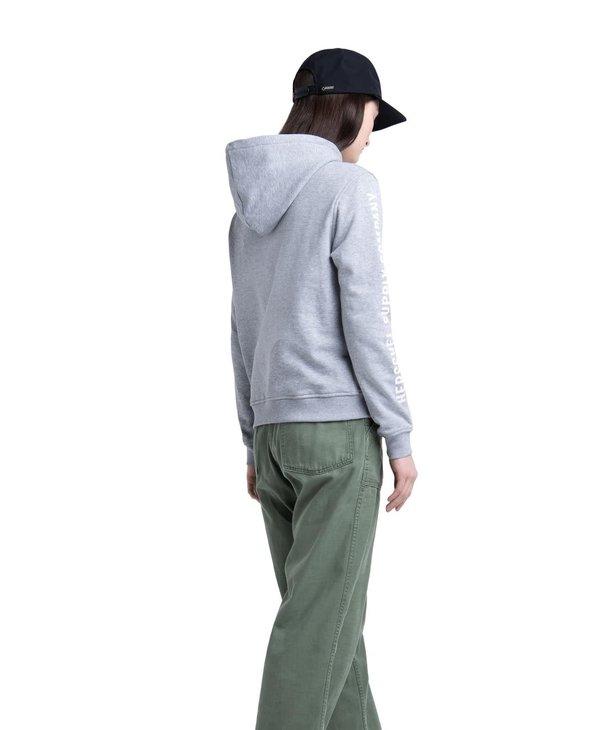 Herschel - ouaté pullover sleeve print heather grey/white print