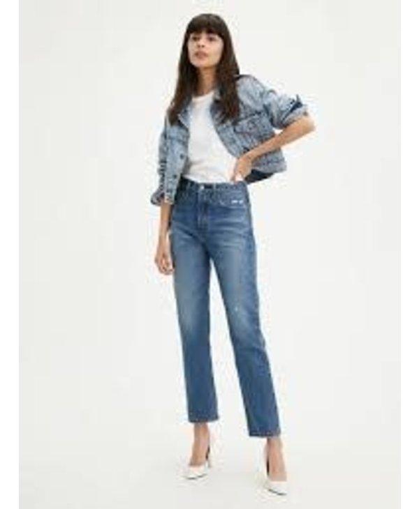 Levi's - Jeans femme  501 original fit anthens dark/dark indigo