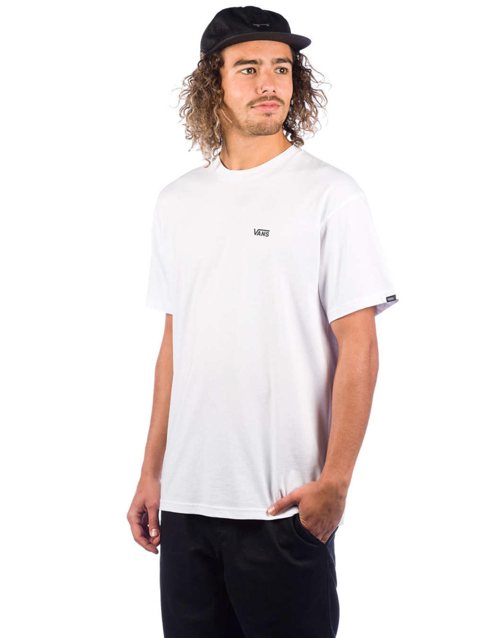vans Vans - t-shirt left chest logo white/black