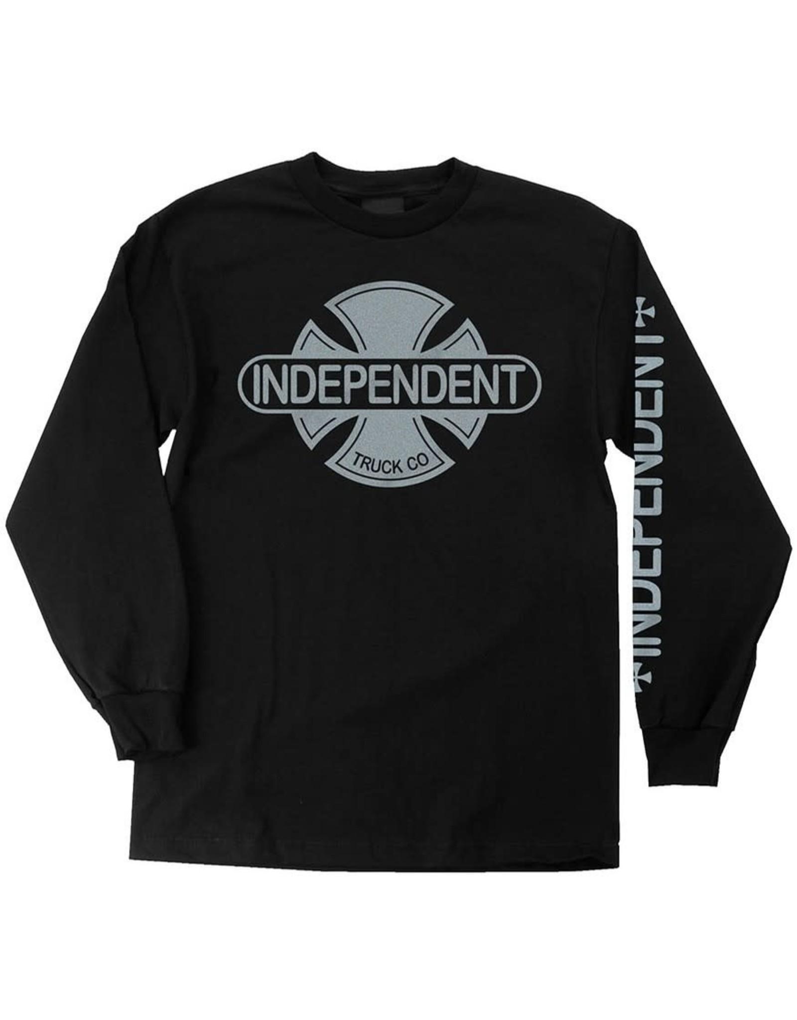 indépendent Independent - Chandail Long Baseplate Black/Silver