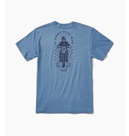 Roark Roark - T-Shirt By Street Or By Trail Slate Blue