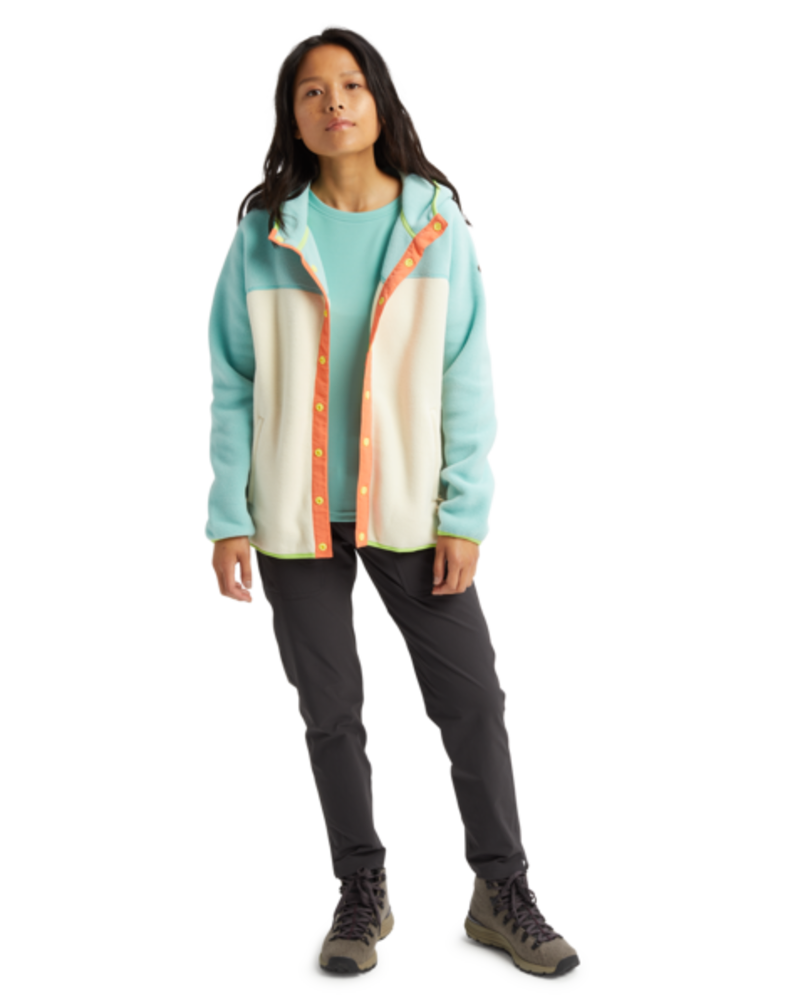 burton Burton - Polar Hearth Full Snap Buoy Blue/Creme Brulée
