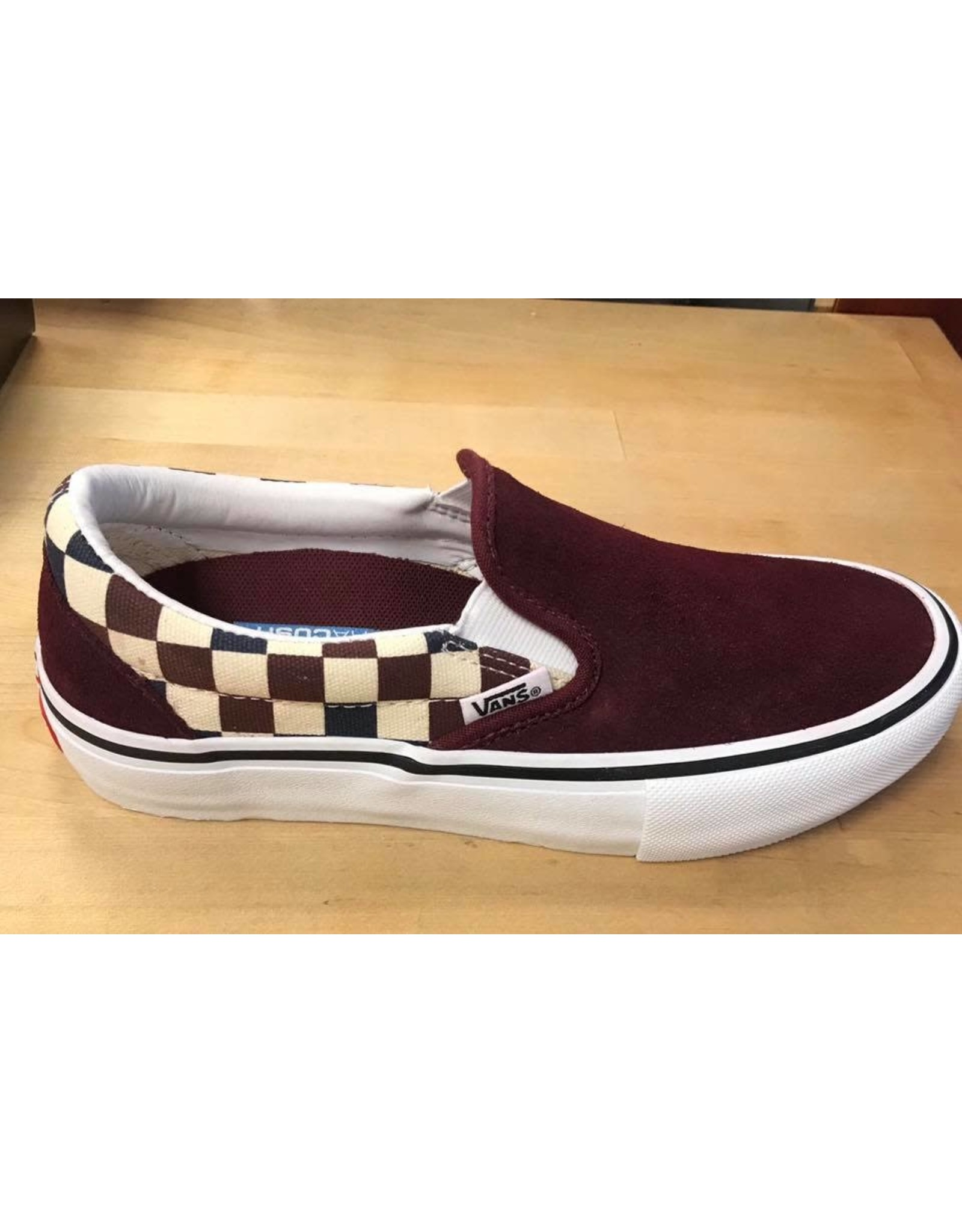vans Vans - soulier slip-on pro (multi checker)