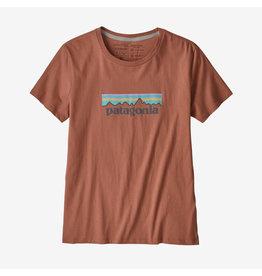 Patagonia Patagonia - T-shirt femme pastel p-6 logo organic crew century pink