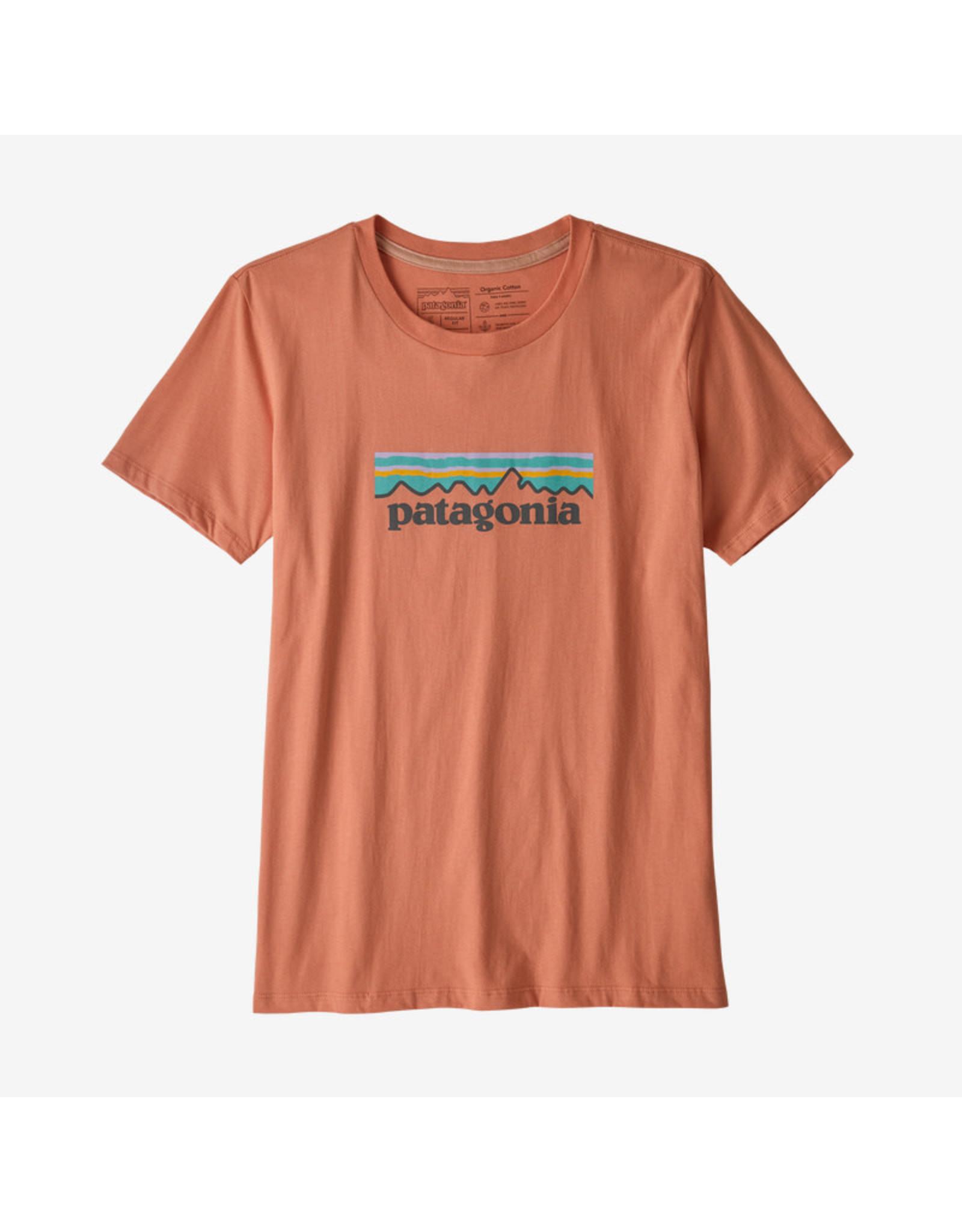 Patagonia Patagonia - T-shirt femme p-6 logo organic crew mellow melon