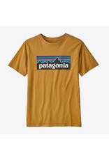 Patagonia Patagonia - T-shirt junior p-6 logo organic prairie gold