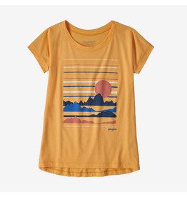 Patagonia Patagonia - T-shirt fille graphic organic saffron