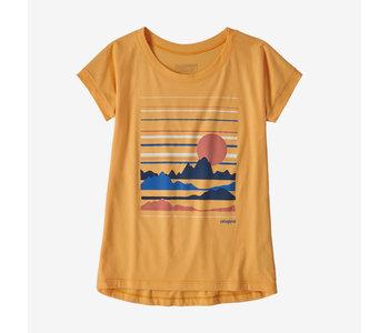 Patagonia - T-shirt fille graphic organic saffron