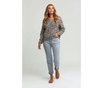 Rhythm - Pull femme bedford knit smoke