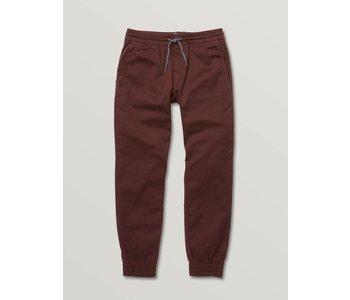 Volcom - Pantalon junior frickin slim jogger plum