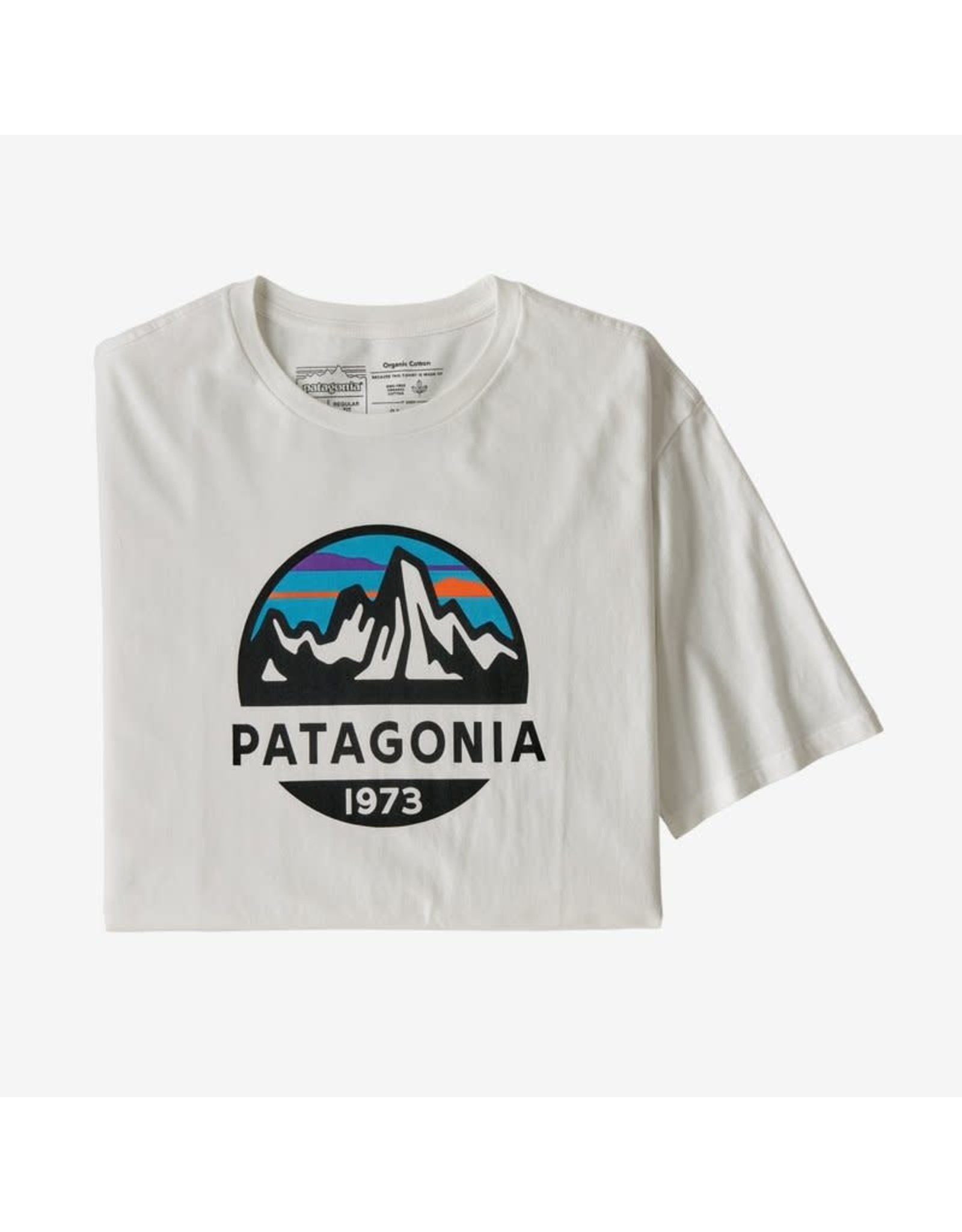Patagonia Patagonia - T-shirt homme fitz roy scope organic white