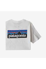 Patagonia Patagonia - T-shirt homme p-6 logo organic white
