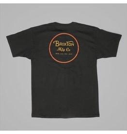 Brixton Brixton - T-shirt homme wheeler II premium black /orange