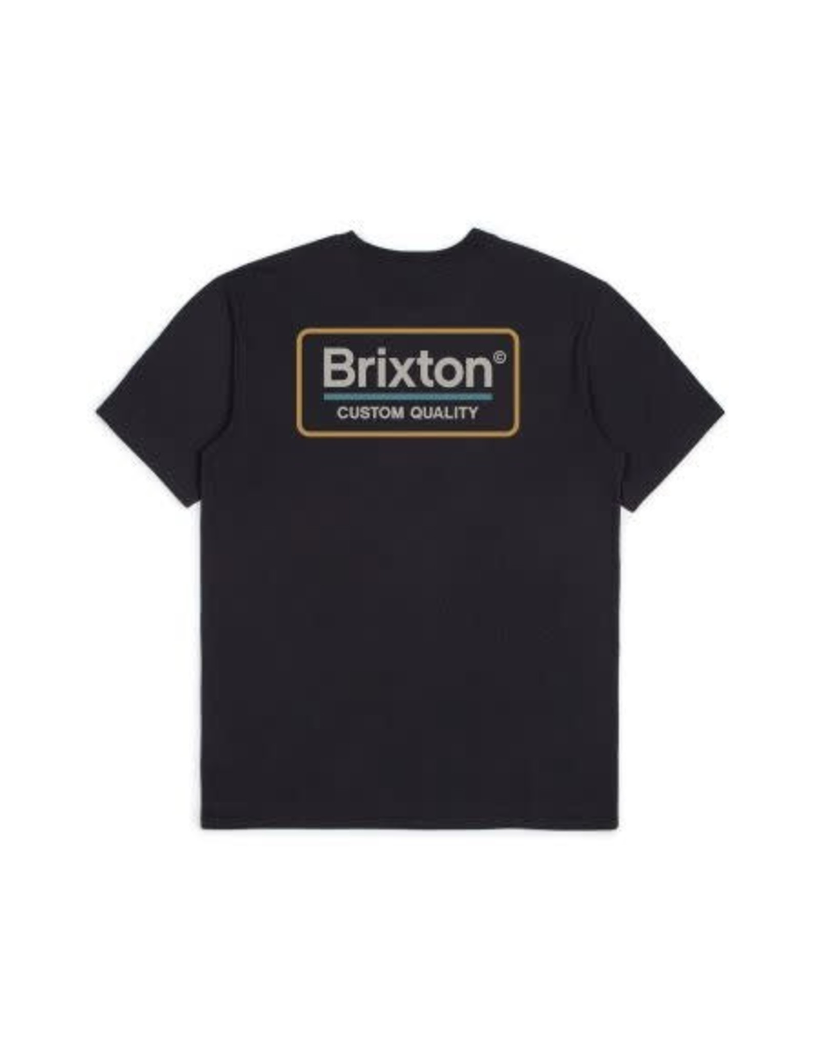 Brixton Brixton - T_shirt homme palmer premium washed black/grey