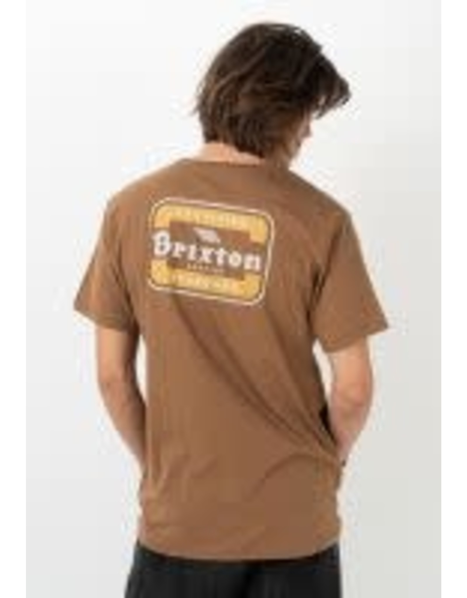 Brixton Brixton - T-shirt homme quill print coconut