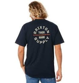 Brixton Brixton - T-shirt  homme oath V navy