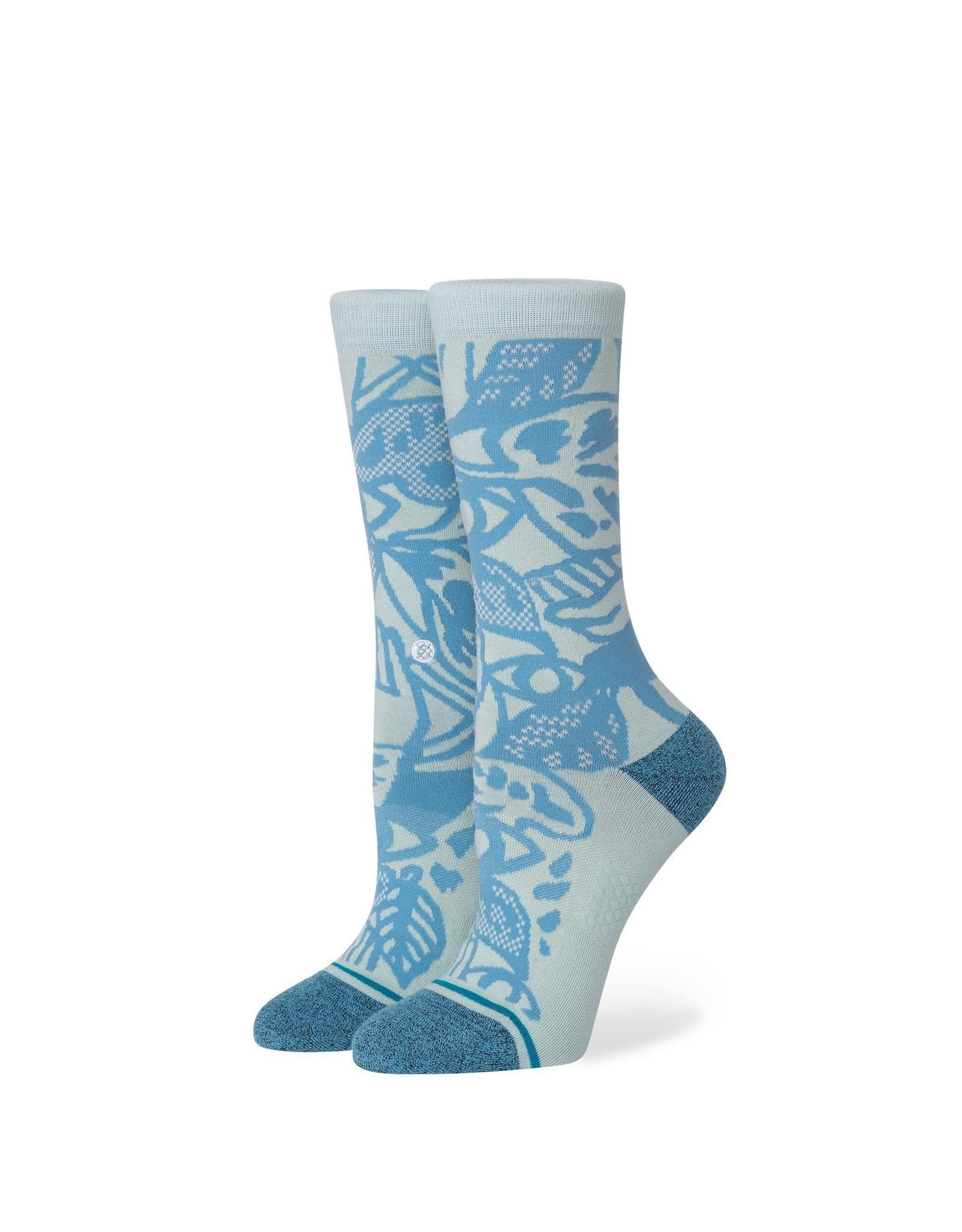 stance Stance - Bas femme leafy crew pastel blue