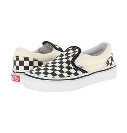 vans Vans - Soulier junior classic slip-on checkerboard black/white