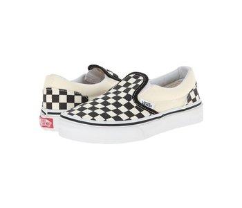 Vans - Soulier junior classic slip-on checkerboard black/white