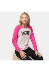 vans Vans - Chandail long fille bundlez bf raglan cool pink/cabaret