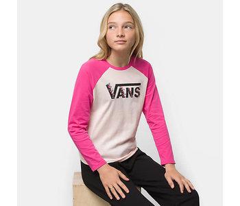 Vans - Chandail long fille bundlez bf raglan cool pink/cabaret
