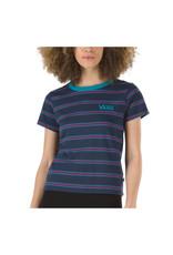 vans Vans - T-shirt femme kaye stripe dress blues