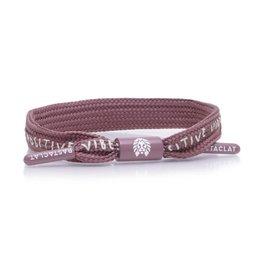 rastaclat Rastaclat - Bracelet femme positive vibes pale mauve