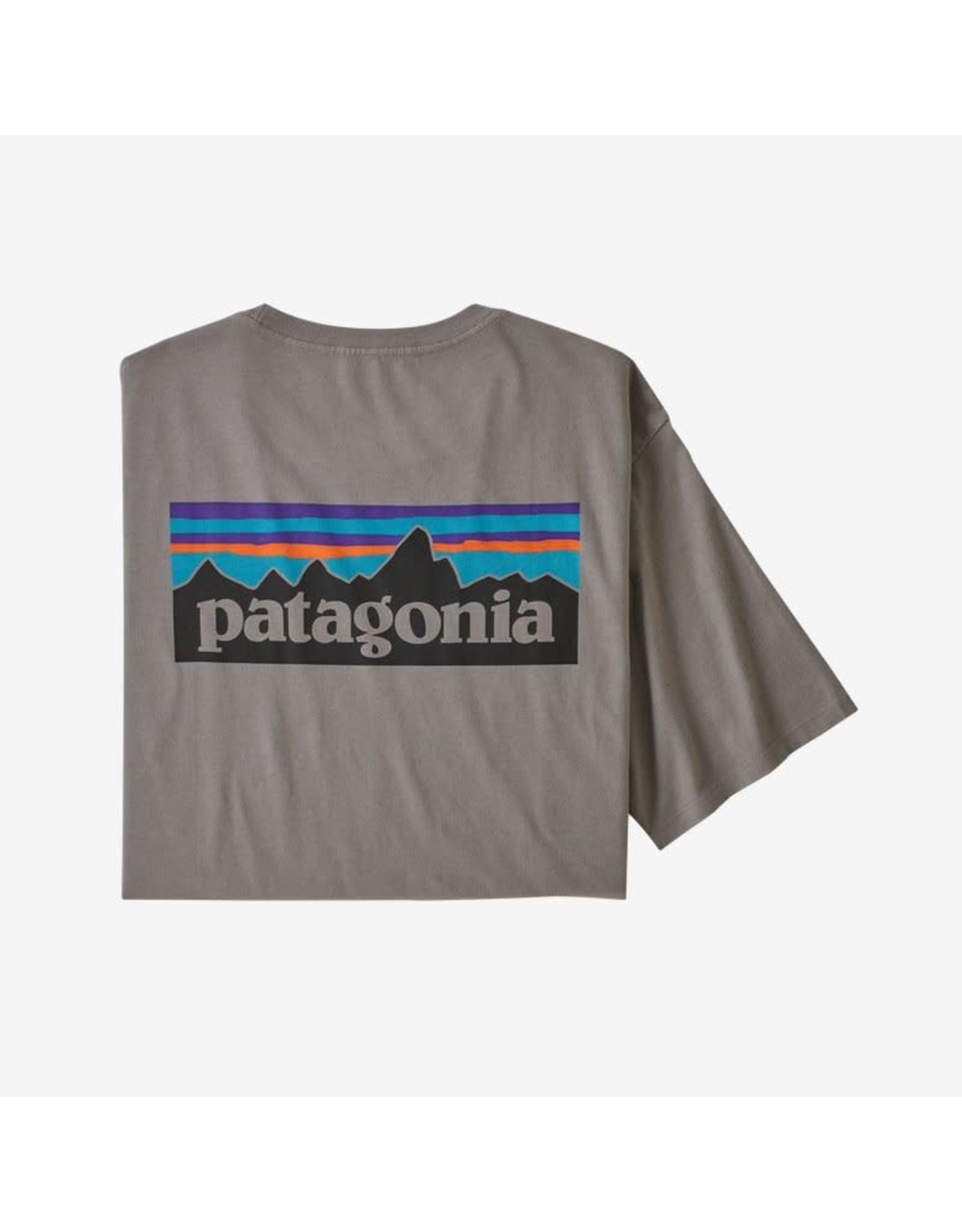 Patagonia Patagonia - T-shirt homme p-6 logo organic feather grey