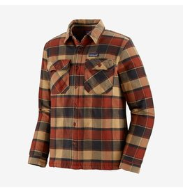 Patagonia Patagonia - Manteau  homme insulated fjord flannel plots burnished red