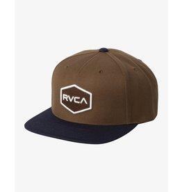 rvca Rvca - Casquette homme commonwealth snapback tobacco