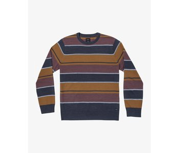 Rvca - Pull junior alex stripe moody blue