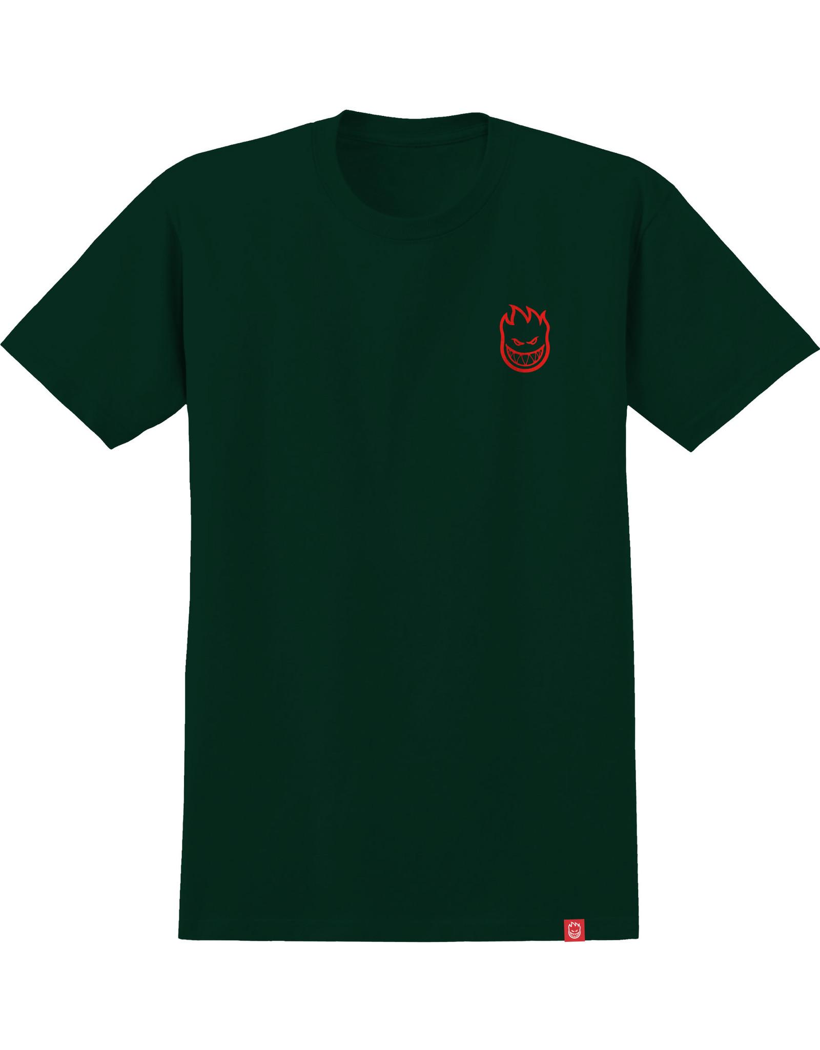 spitfire Spitfire - T-shirt homme lil big head forest green w/red print