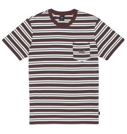 huf Huf - T-shirt homme jett stripe knit deep mahogany