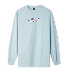 huf Huf - Chandail long homme psycho daisies light blue