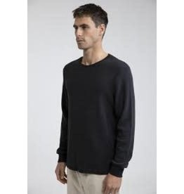 rhythm Rhythm - Chandail long homme essential waffle knit vintage black