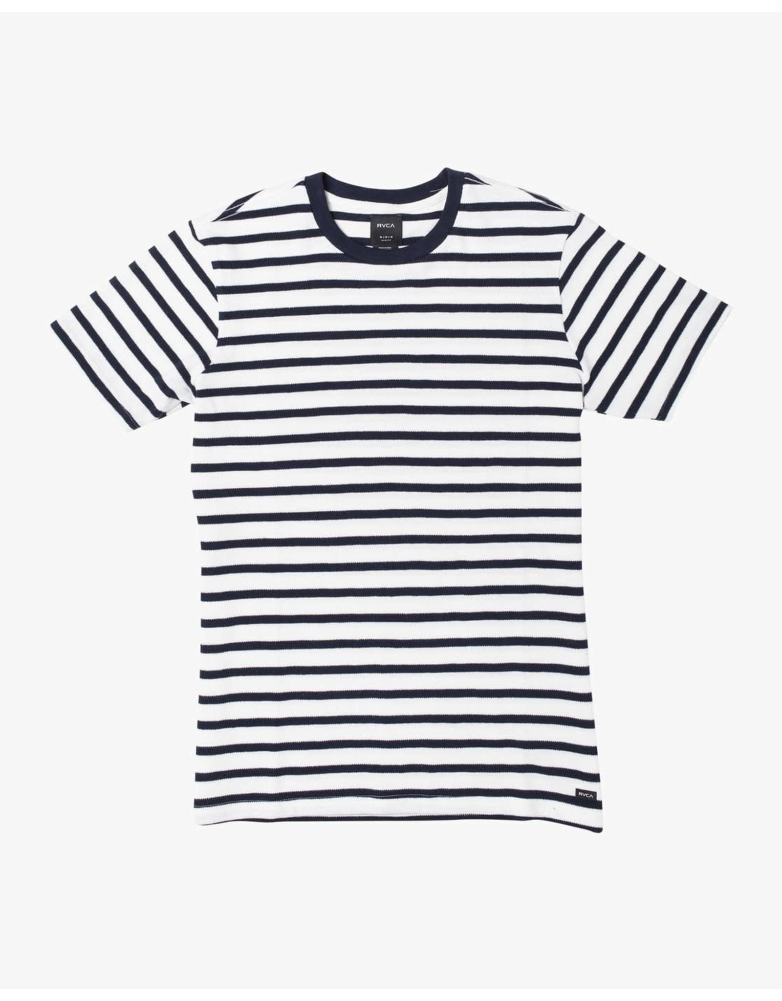 rvca Rvca - T-shirt homme greenwich strip navy marine