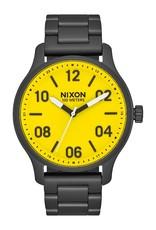 nixon Nixon - Montre homme patrol all black/yellow