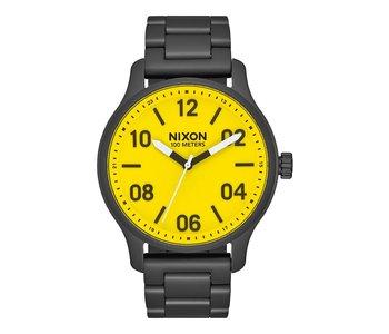 Nixon - Montre homme patrol all black/yellow
