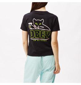Obey Obey - T-shirt femme up all night shrunken black