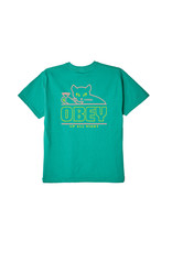 Obey Obey - T-shirt femme up all night shrunken jade dome