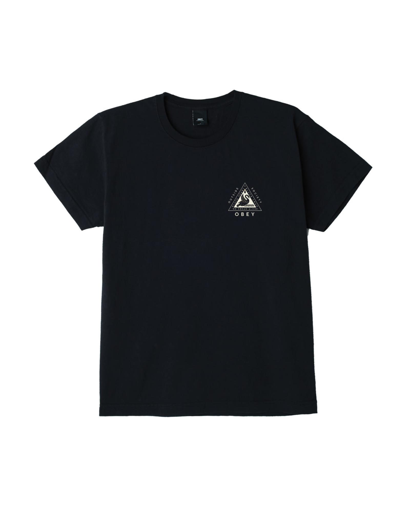 Obey Obey - T-shirt femme swan shepard custom box off black