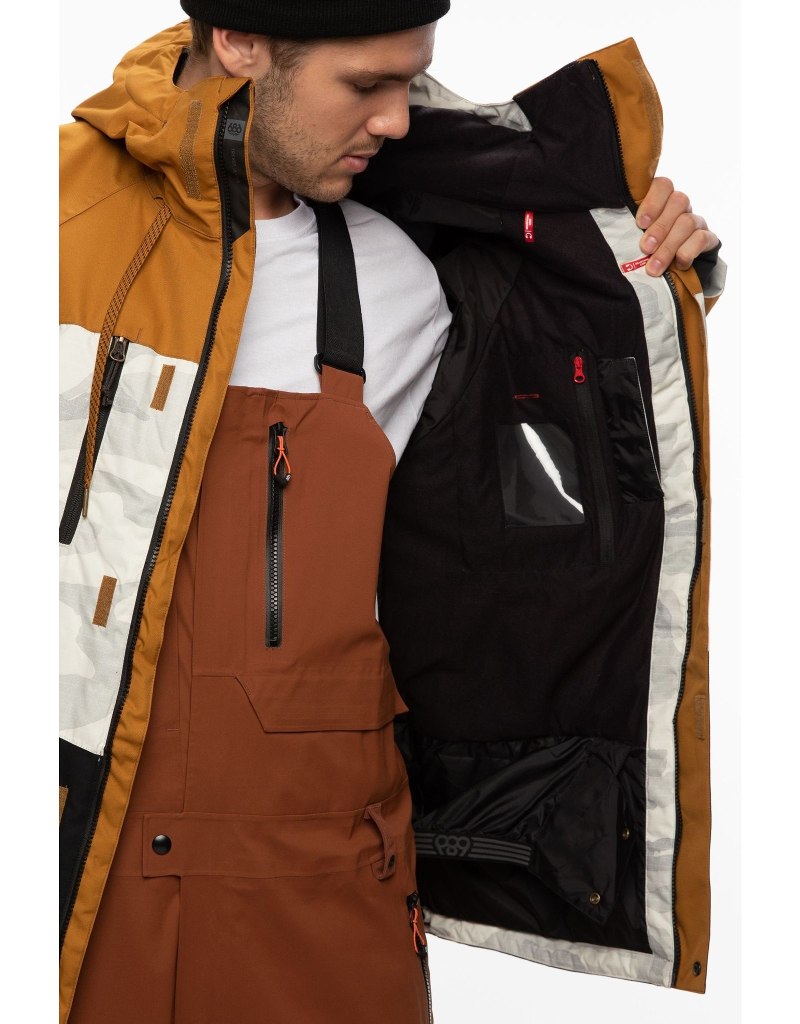 686 686 - Manteau geo insulated golden brown colorblock