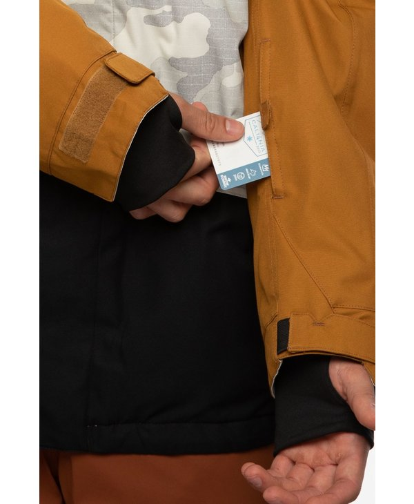 686 - Manteau homme  geo insulated golden brown colorblock