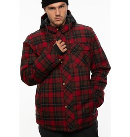 686 686 - Manteau homme woodland insulated oxblood plaid