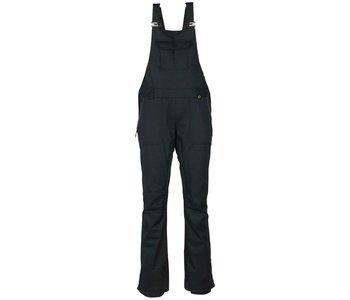 686 - Pantalon femme black magic insulated bib black satin dobby