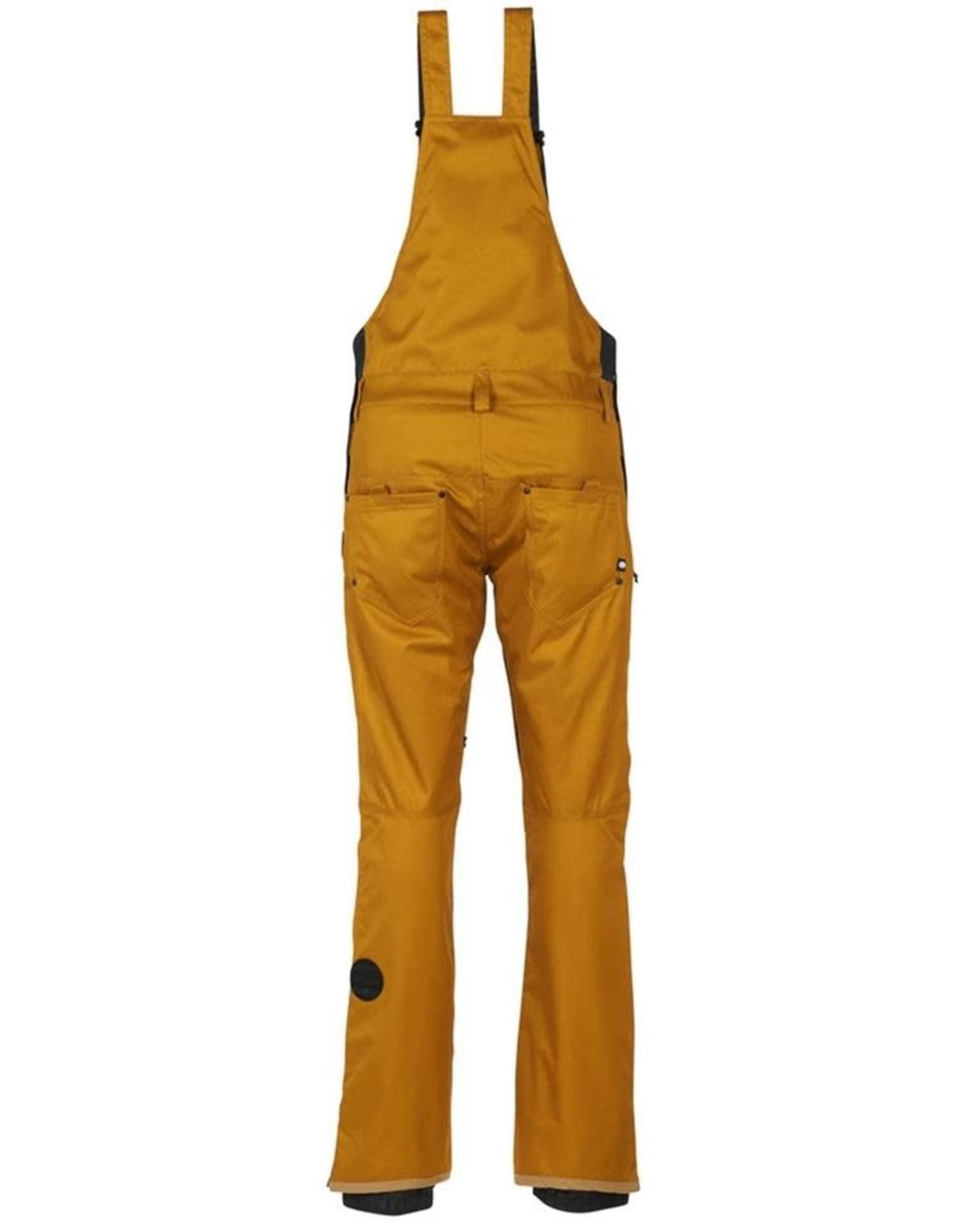 686 686 - pantalon femme black magic insulated bib golden brown