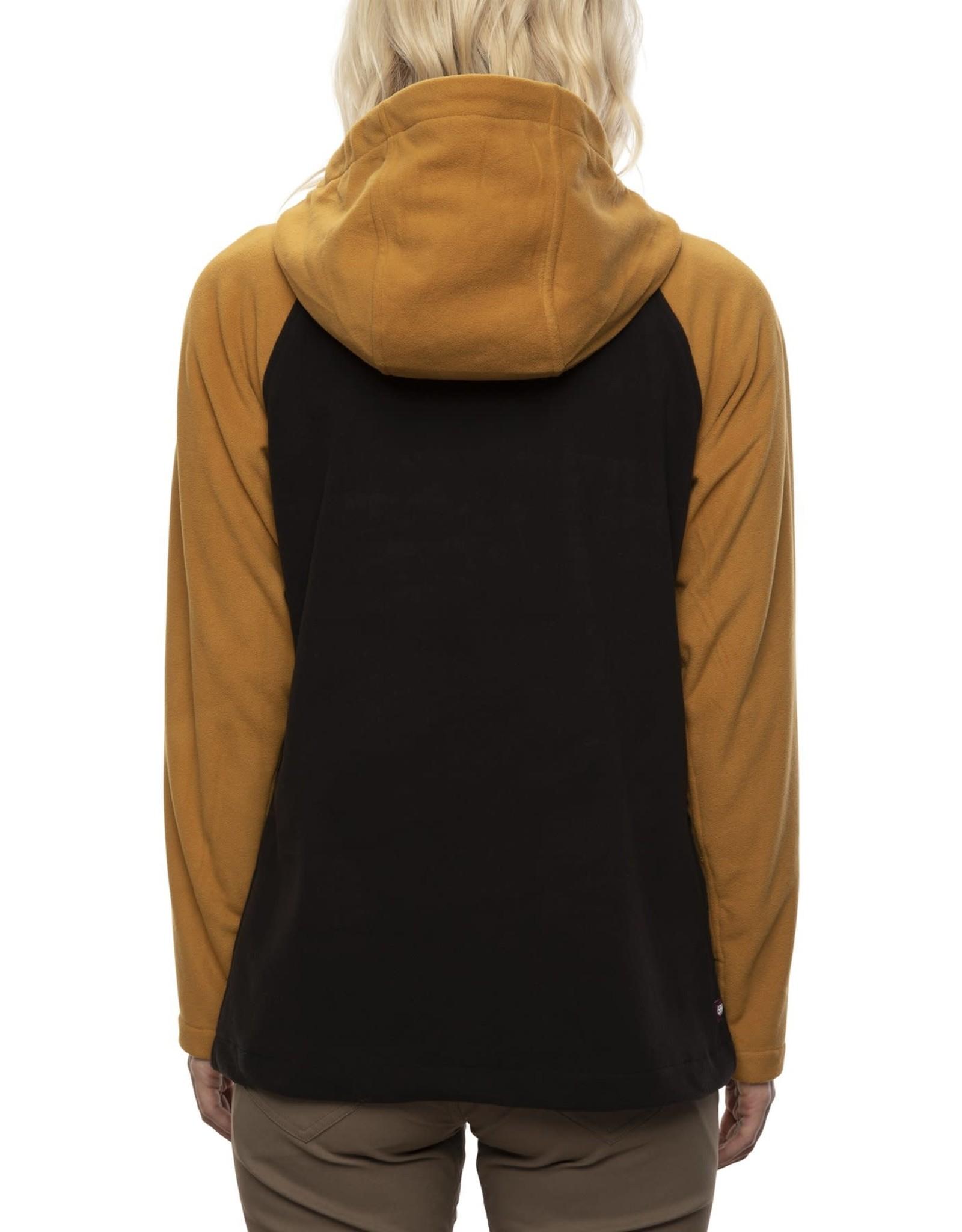 686 686 - Polar femme hemlock fleece hoody golden brown colorblock